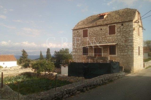 Stone house on the island of Brač